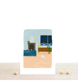 Atelier Bobbie Wenskaart Hippolyte - Dubbele kaart + Enveloppe - A6