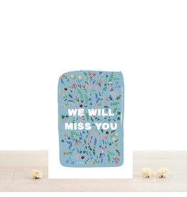 Atelier Bobbie Wenskaart Violette - Dubbele kaart + Enveloppe - A6