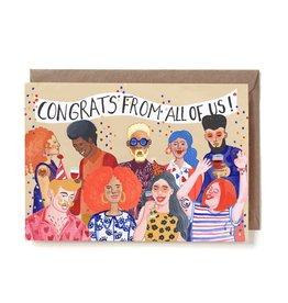 Reddish Design Wenskaart - Group Congrats - Dubbele kaart + Envelope - 10 x 15cm