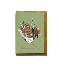 Reddish Design Wenskaart - Kerst - Christmas Envelope- Dubbele kaart + Envelope - 10 x 15cm