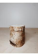 Mus in een Plas Houten boomstammetje - Doosje - Ø 4,5 x H 5,5
