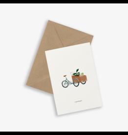 Kartotek Wenskaart - Cargo Bike- Dubbele kaart en Enveloppe - A6
