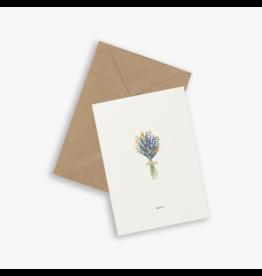 Kartotek Wenskaart - Bouquet, Merci - Dubbele kaart en Enveloppe - A6
