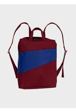 Susan Bijl Susan Bijl Backpack, Burgundy & Electric Blue