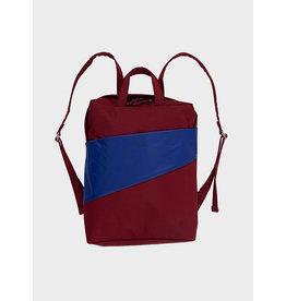 Susan Bijl Backpack, Burgundy & Electric Blue