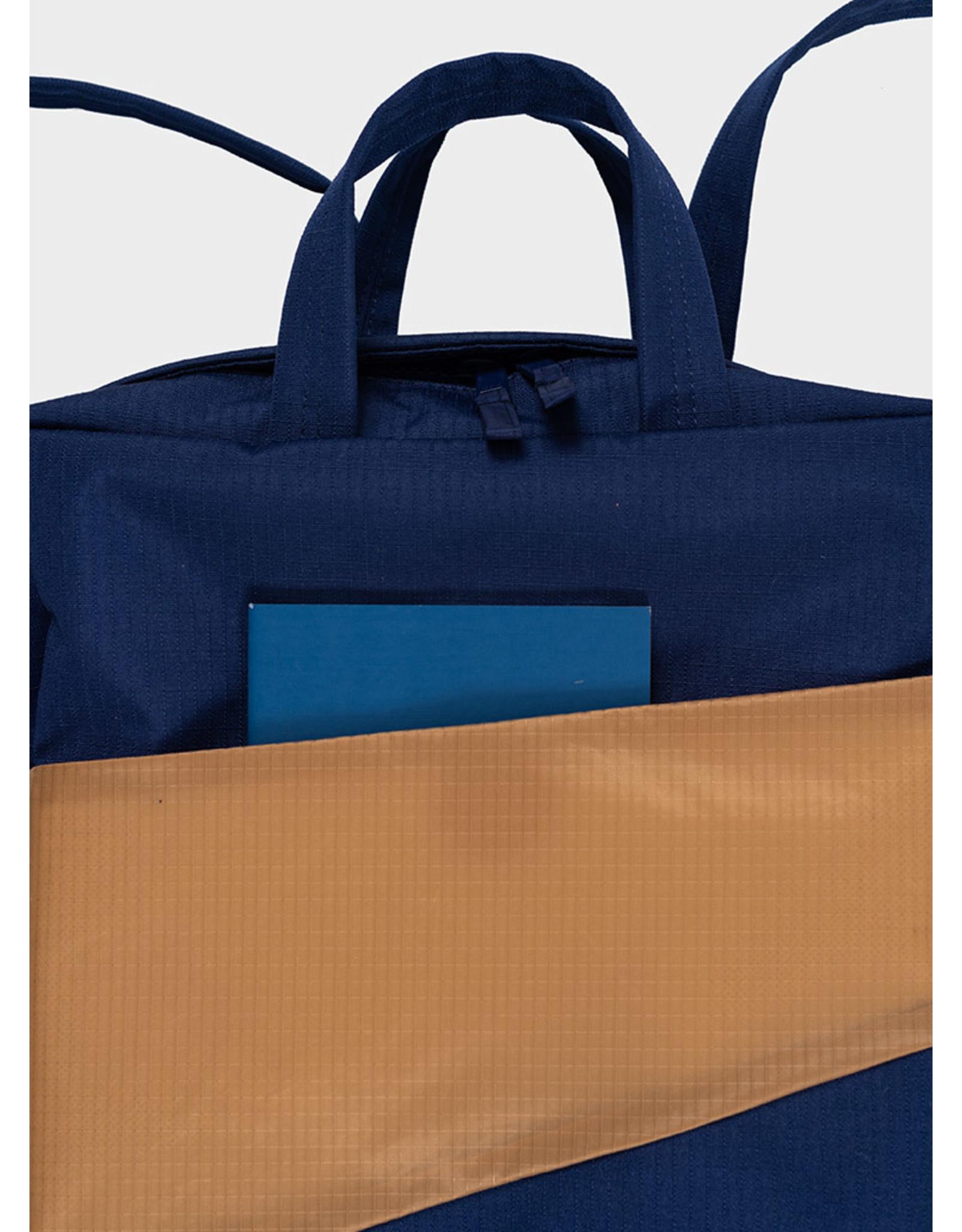 Susan Bijl Susan Bijl Backpack, Navy & Camel