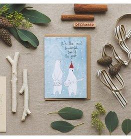 Dear Prudence Wenskaart- Kerst - Polar band - Dubbele kaart + Envelop - 10 x 15 cm