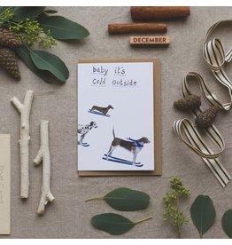 Dear Prudence Wenskaart- Kerst - Wilf & Co- Dubbele kaart + Envelop - 10 x 15 cm