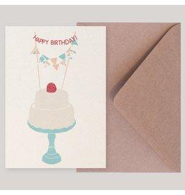 Souci-illustration Wenskaart - Raspberry - Postkaart + Envelope - 10 x 15cm