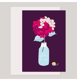 Souci-illustration Wenskaart - Only for you - Dubbele kaart + Envelope - 10 x 15cm