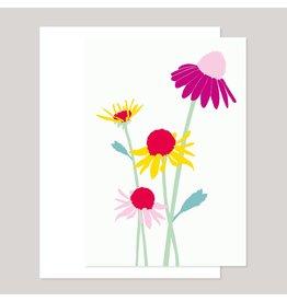 Souci-illustration Wenskaart - Zonnenhoed - Dubbele kaart + Envelope - 10 x 15cm