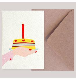 Souci-illustration Wenskaart - Cupcake - Postkaart + Envelope - 10 x 15cm
