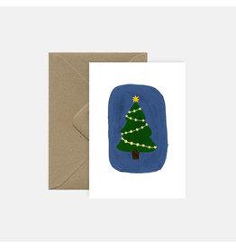 Pink Cloud Studio Wenskaart- Kerst - Oh Christmas Tree - dubbele kaart met envelop