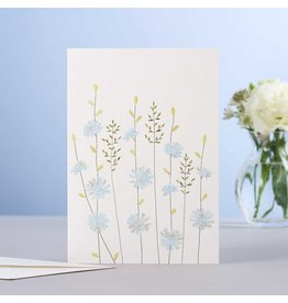 Eloise Hall Wenskaart - Chicory & Grass - Dubbele Kaart + Envelop - 11,5 x 16,5 - Blanco