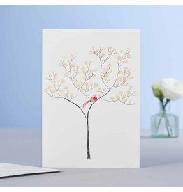 Eloise Hall Wenskaart - Magnolia Tree - Dubbele Kaart + Envelop - 11,5 x 16,5 - Blanco