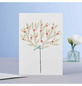 Eloise Hall Wenskaart - Orange Tree - Dubbele Kaart + Envelop - 11,5 x 16,5 - Blanco