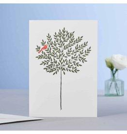 Eloise Hall Wenskaart - Bay Tree - Dubbele Kaart + Envelop - 11,5 x 16,5 - Blanco