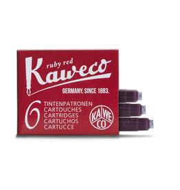 Kaweco Kaweco Ink cartridges - Ruby Red - 6-pack