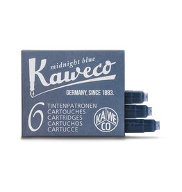 Kaweco Kaweco Ink cartridges -  Midnight Blue - 6-pack