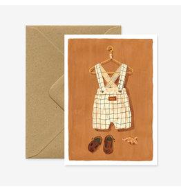 ATWS Wenskaart - Overall Cream - Dubbele kaart + Envelop - 11,5 x 16,5 - Blanco