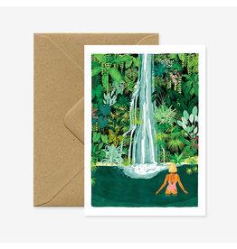 ATWS Wenskaart - Waterfall  - Dubbele kaart + Envelop - 11,5 x 16,5 - Blanco