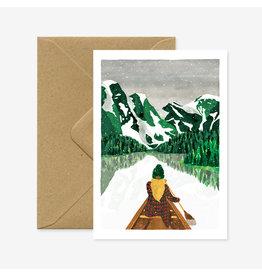 ATWS Wenskaart - Winter Lac  - Dubbele kaart + Envelop - 11,5 x 16,5 - Blanco