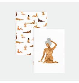 ATWS Zaknotitieboekje - Women & Woman - 10,5 x 14,8 cm - Golf foil - 36 blank pages