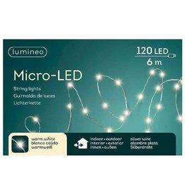 Vanremoortel Micro-LED - 6m / 120 LED - Warm Wit - Zilver draad