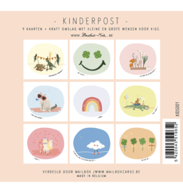 Studio Mie Kinderpost - 9 kaarten + kraft omslag