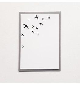 Poussière des rues Wenskaart - Hinrondelles - Postkaart + Enveloppe