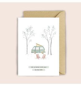 Luvter Paper Co. Wenskaart - Camping - Dubbele kaart + Enveloppe