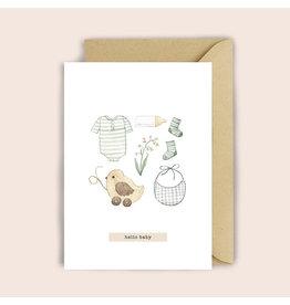 Luvter Paper Co. Wenskaart - Baby Beige - Dubbele kaart + Enveloppe