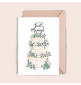 Luvter Paper Co. Wenskaart - Wedding Cake - Dubbele kaart + Enveloppe