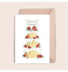 Luvter Paper Co. Wenskaart - Birthday Cake - Dubbele kaart + Enveloppe