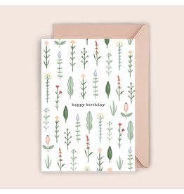 Luvter Paper Co. Wenskaart - Pressed Flowers - Dubbele kaart + Enveloppe