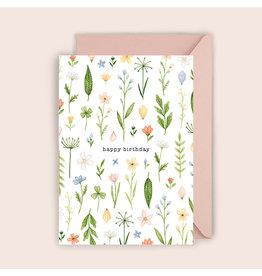 Luvter Paper Co. Wenskaart - Buttercups - Dubbele kaart + Enveloppe