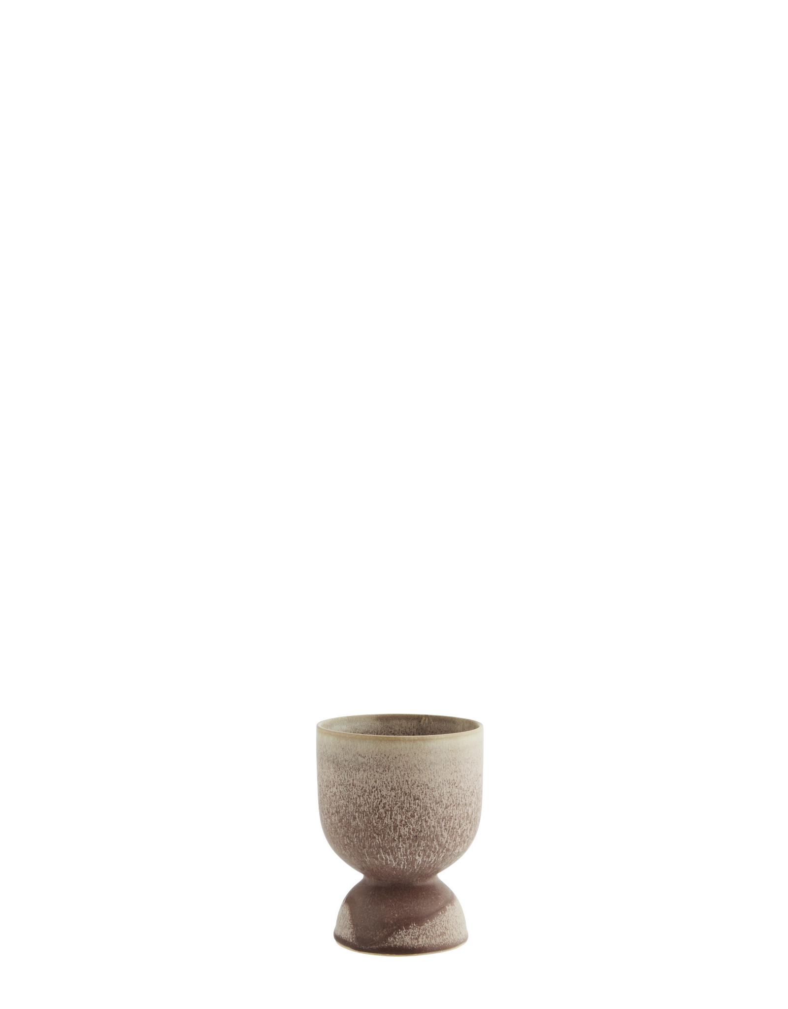 Madam Stolz Bloempot - Poeder, Bruin - Ø 10,5 x H 14,5 cm