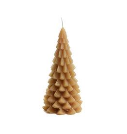 Rustik Lys Kaars - Kerstboom  - Fudge - 10 x 20 cm - Burning time +/- 42h