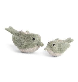 En Gry & Sif Vogel set 2 - Dusty Green - 4 + 5,5 cm