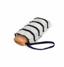 Paraplu Henri - Navy Stripes on Ivory