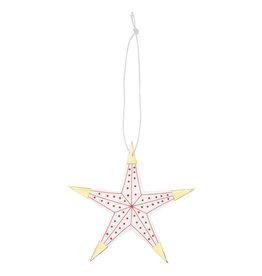 Raeder Lucky Star L - Rood met Gouden punten - 12 x 12 cm