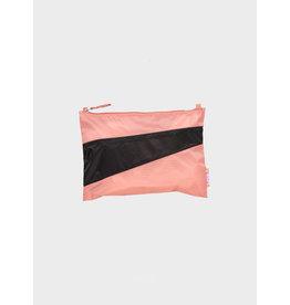 Susan Bijl Pouch M, Try & Black- 19 x 29cm