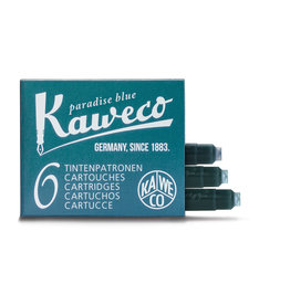 Kaweco Kaweco Ink cartridges - Paradise Blue - 6-pack