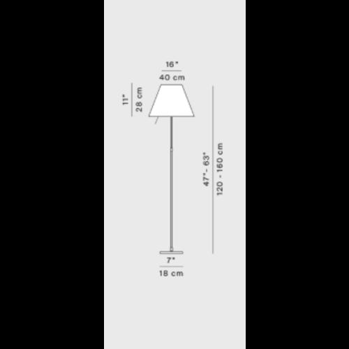Luceplan Constanza dimbaar LED  E27(120cm/160cm)
