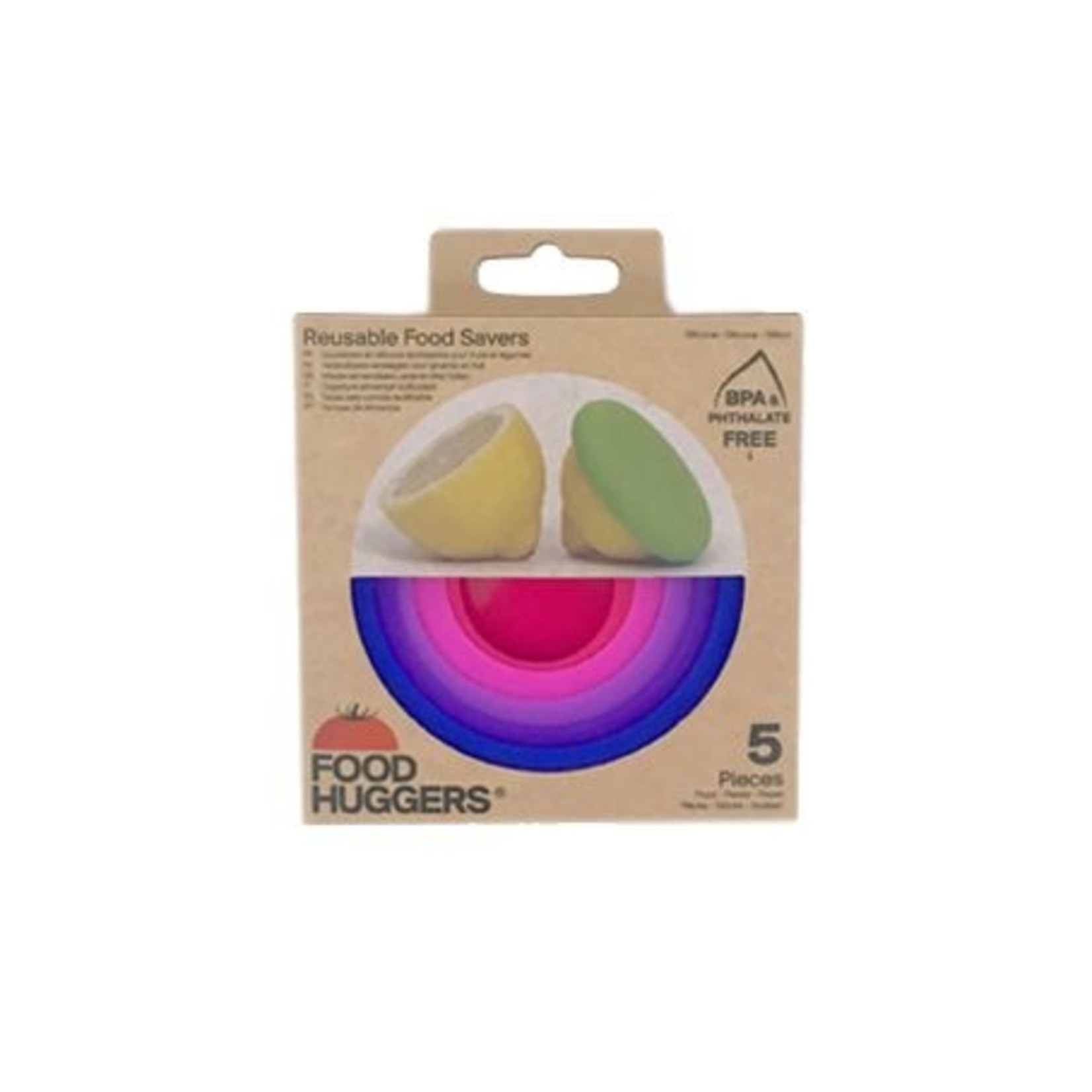 Set of 5 Bright Berry Foodhuggers