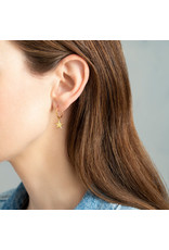 A Beautiful Story Big Star Sterling Silver Gold-Plated Hoop Earring