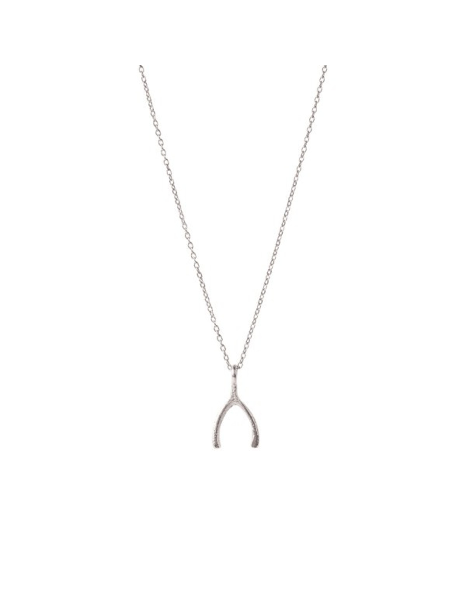 A Beautiful Story Delicate Wishbone Sterling Silver Necklace