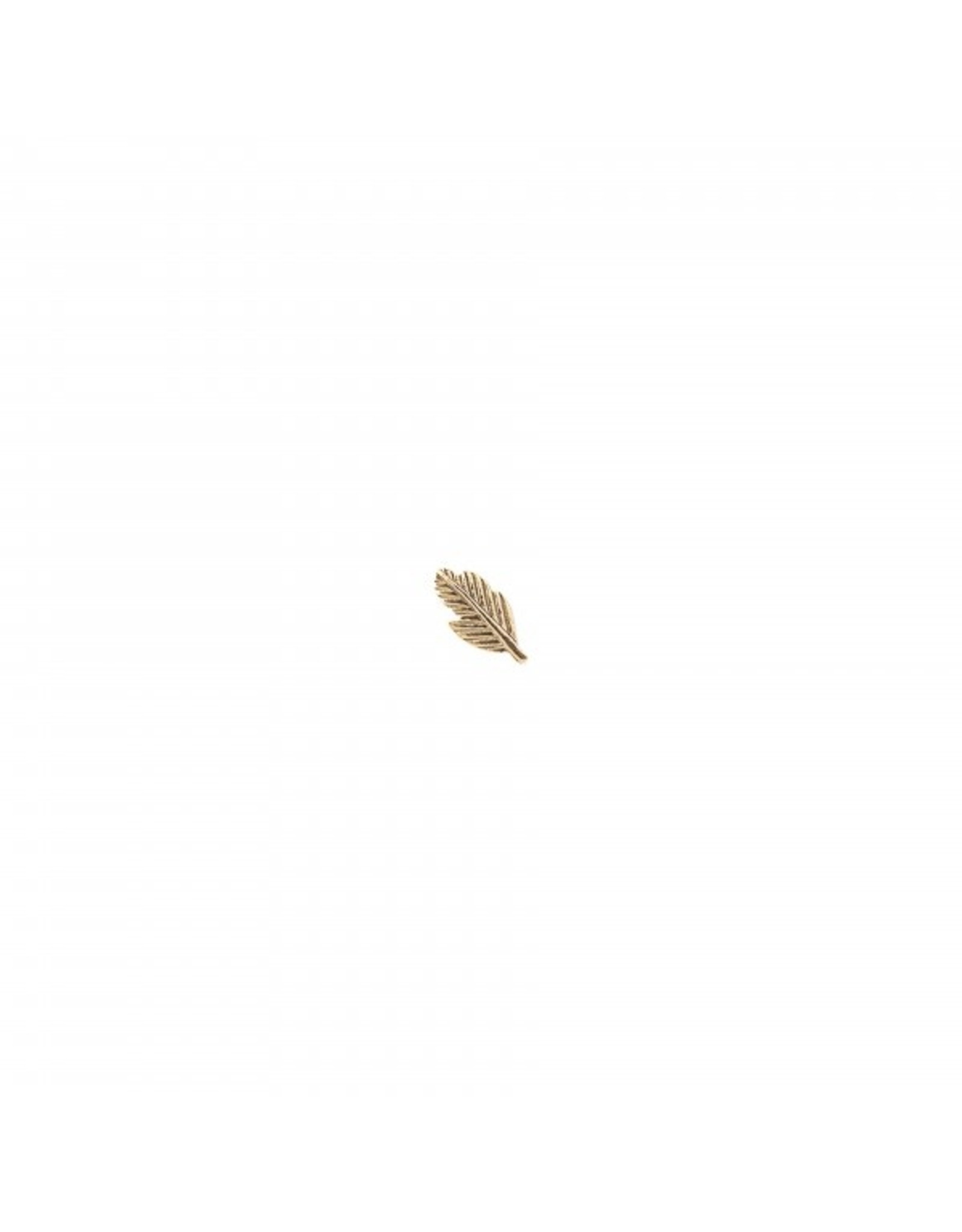 A Beautiful Story Feather Sterling Silver Gold-Plated Earring