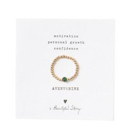 A Beautiful Story Sparkle Aventurijn Goud Ring