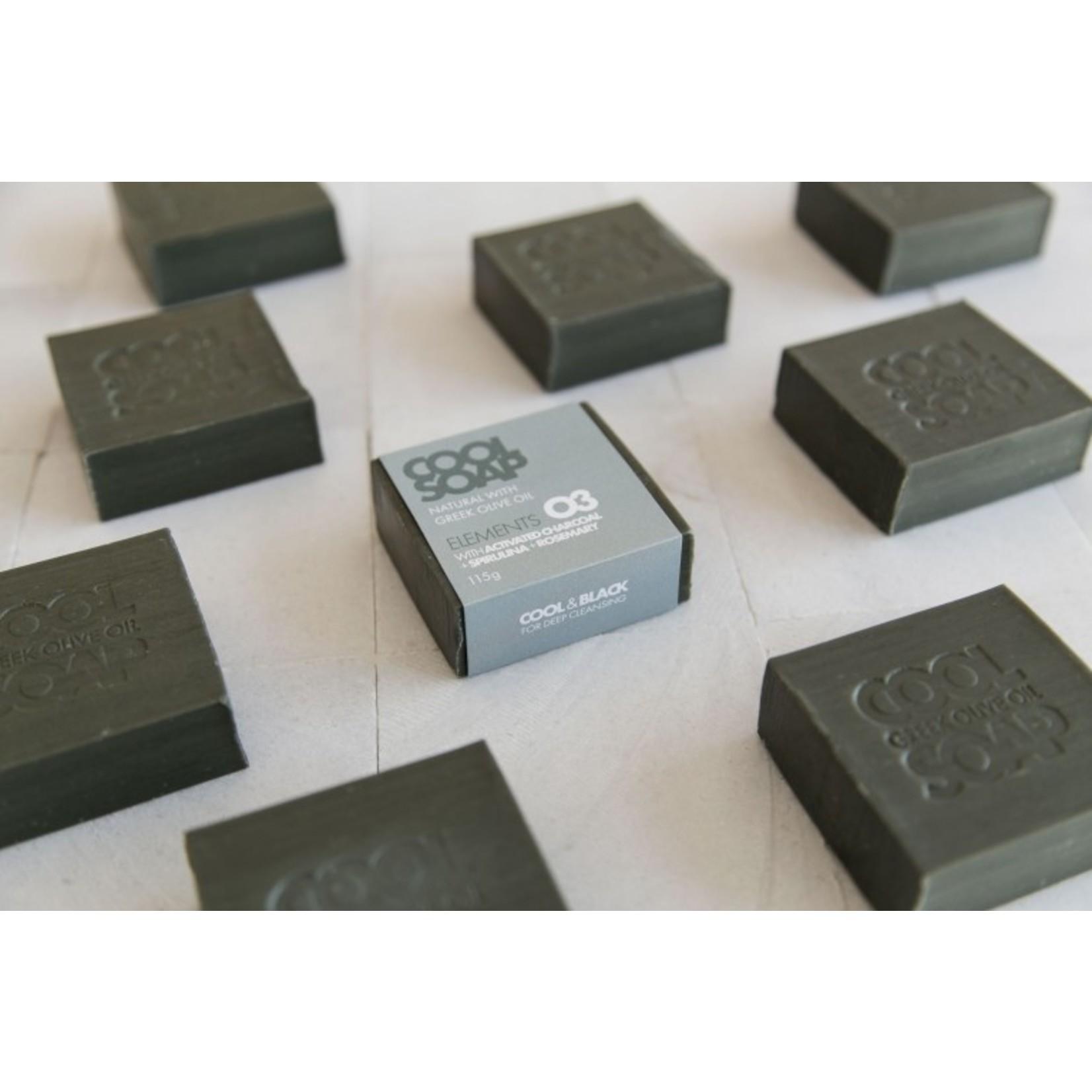 Zeepblok Rozemarijn + actieve kool - 115gr